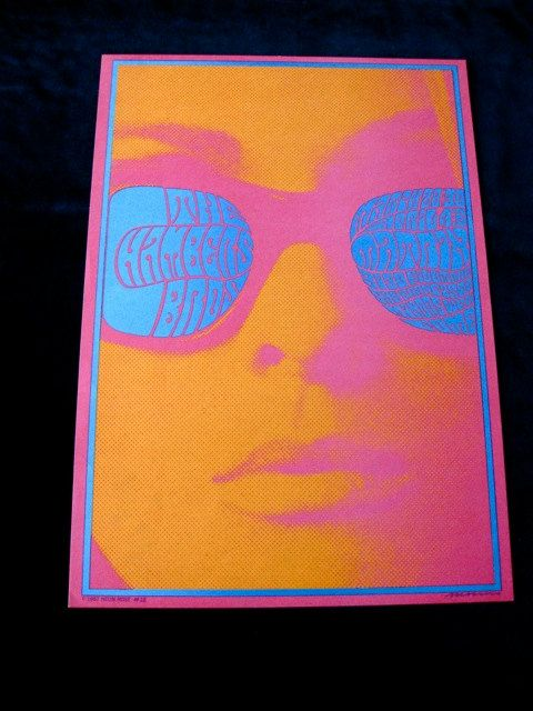 hippie poster - I still love looking at these colors. Groovy in a subtly psych-o-delic way.