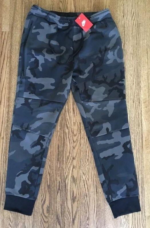 Nike Men's Tech Fleece Camo Sweatpants Joggers NEW! Gray Black XL #Nike #Pants