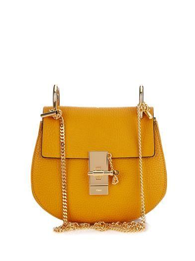 Drew mini leather shoulder bag   Chloé   WWW.DRESSMEPERFECT.COM #FASHION #STYLE #CHLOE