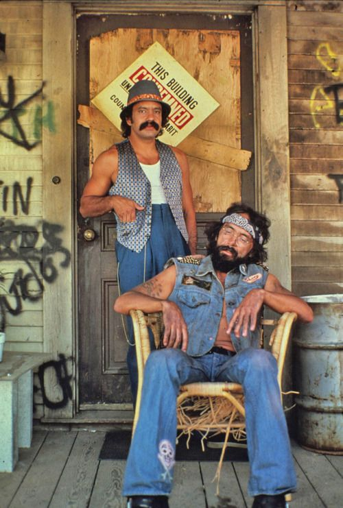 Cheech and Chong became a cult classic....showing two subcultures of America, the leftover hippie and Chicano vato loco.