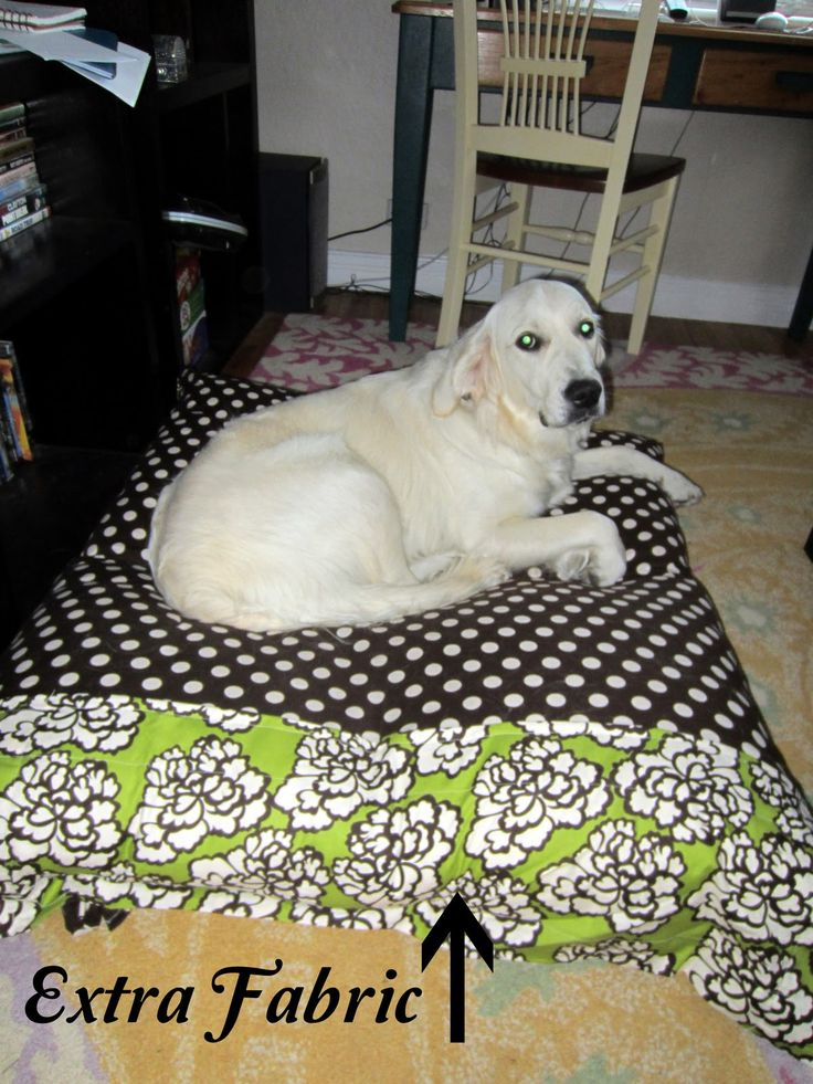 Pinch Of Zest Diy Dog Bed Use 4 Thrift Store Pillows As