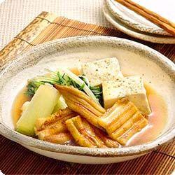 焼き穴子と豆腐の炊き合わせ (レシピNo.1485) ネスレ バランスレシピ
