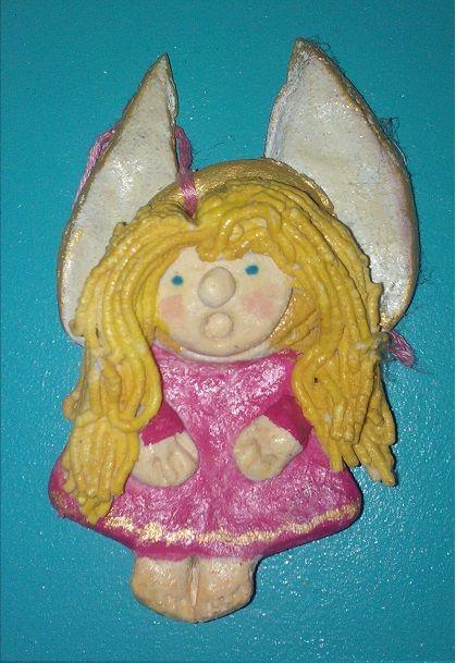 Salt Dough Angel. By My Daughter, than 8.