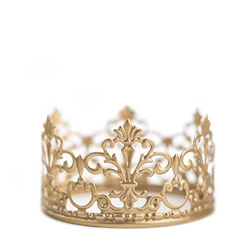 #Gold Crown Cake Topper - Measures 4 inches across, 2.25 inches tall, circumference of 12.5 inches. ABOUT THE QUEEN OF CROWNS We are a family owned business loca...