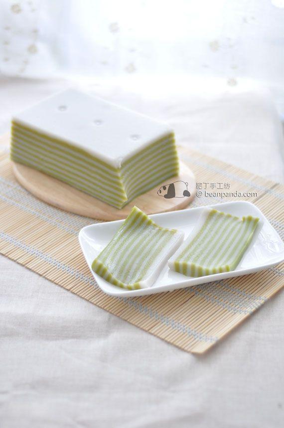 椰香班蘭千層糕【軟糯煙韌】Pandan Coconut Cake