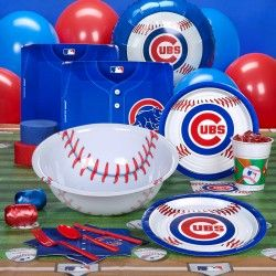 Chicago Cubs Baseball Party Supplies - more for hubby than our little one :)
