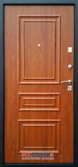 Дверь Тип М831 Б ДП - черный шелк/золотистый дуб 3D