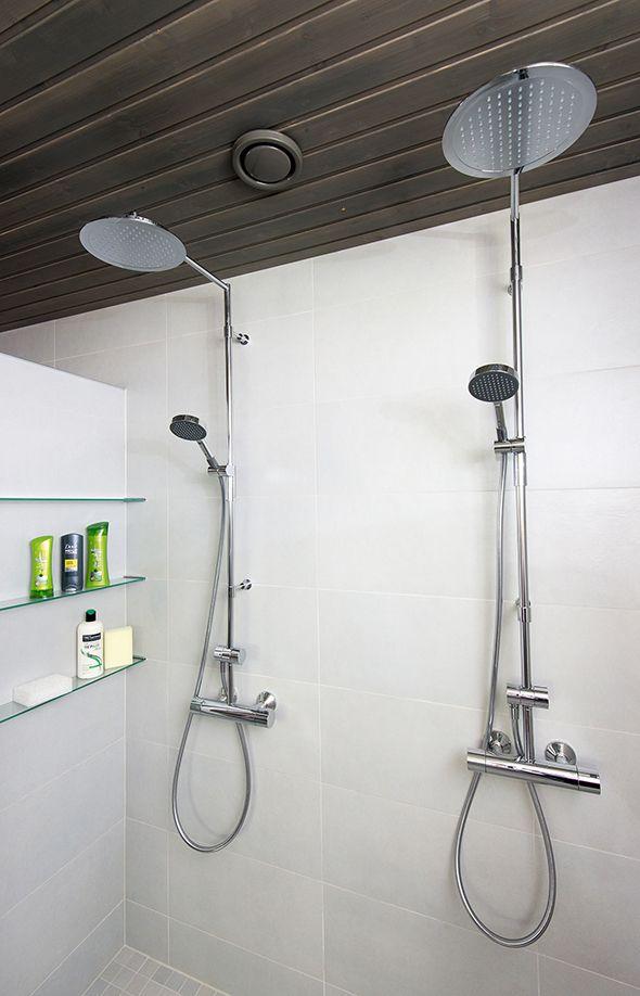 Oras Cubista rain shower faucets