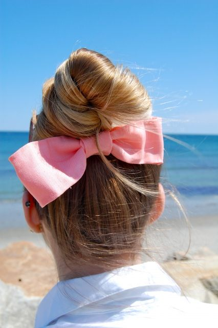 top knot + bow