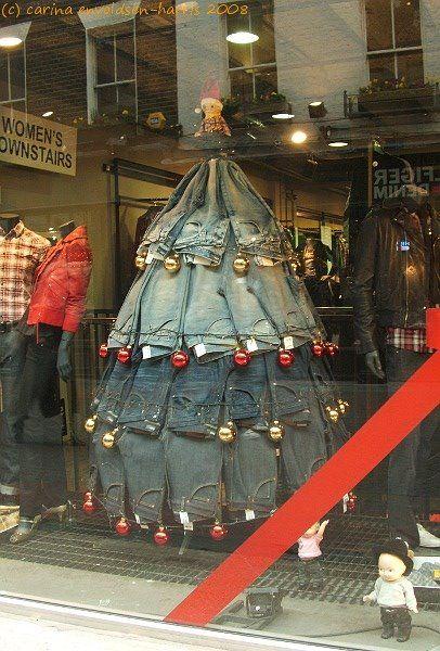 Great Christmas Jean display.