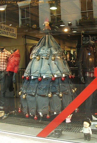 Great Christmas Jean display.