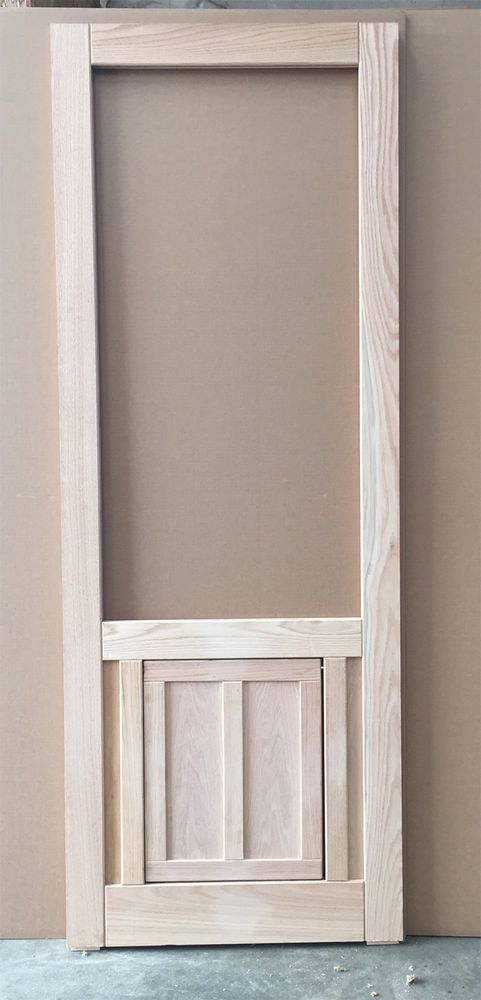 The 25 best ideas about wood screen door on pinterest for Exterior door with built in pet door