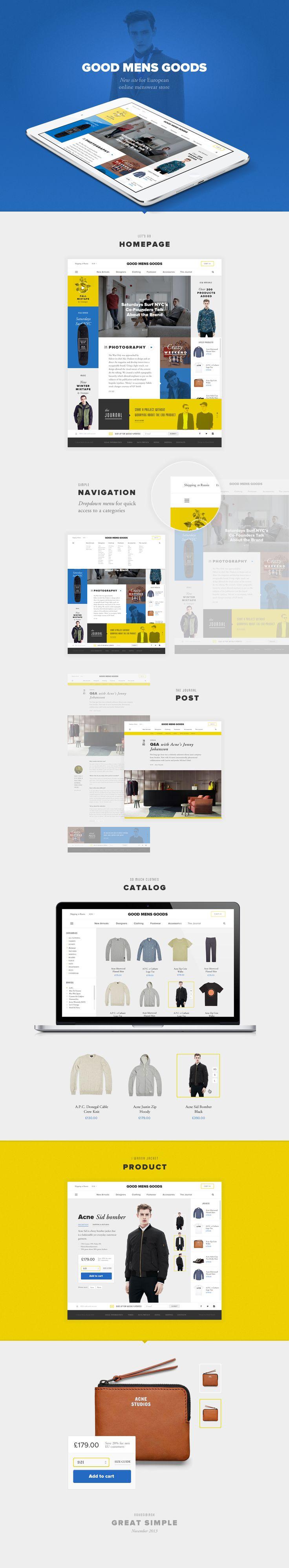 Good Mens Goods, Сайт © Алексей Рыбин #WebDesign #ResponsiveDesign #Responsive #Web #UI #UX #GUI #Amazing #web #design #WebSite