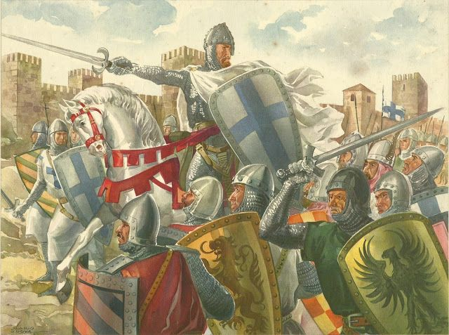 D Afonso Henriques e a tomada de AL-USHBUNA - ou al-Lishbuna (Lisboa) em 21 de Outubro de 1147.O exército nacional era composto por 20.000 Portugueses, mais cerca de 13 mil cruzados a caminho da Terra Santa, tendo sido estes, 6000 Ingleses, 5000 Alemães e ainda 2000 Flamengos. A guarnição árabe da cidade era de 15.000 homens.