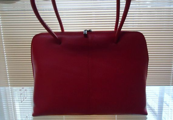 20  OFF Red Leather bag soft  Leather bagleather bag by Metinbags, $195.00