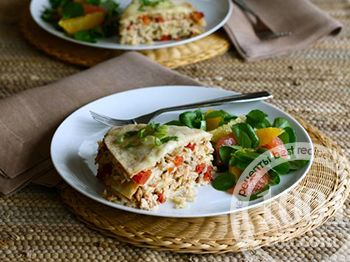 Мексиканский пирог с курицей и лепешками
