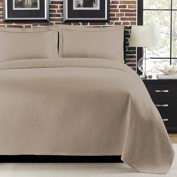 diamond matelasse coverlet beige khaki 220 liked on. Black Bedroom Furniture Sets. Home Design Ideas