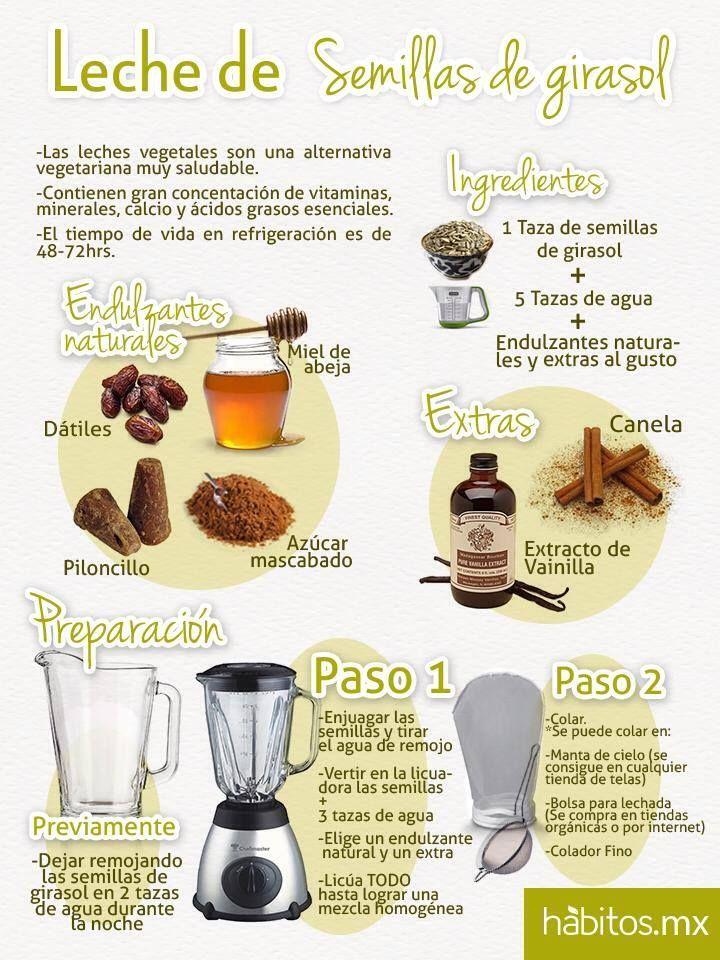 Hábitos Health Coaching | Leche de semilla de girasol