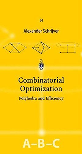 Combinatorial Optimization (3 volume, A,B, & C):   PAn in-depth overview of polyhedral methods and efficient algorithms in combinatorial optimization. These methods form a broad, coherent and powerful kernel in combinatorial optimization, with strong links to discrete mathematics, mathematical programming and computer science. In eight parts, various areas are treated, each starting with an elementary introduction to the area, with short, elegant proofs of the principal results, and ea...