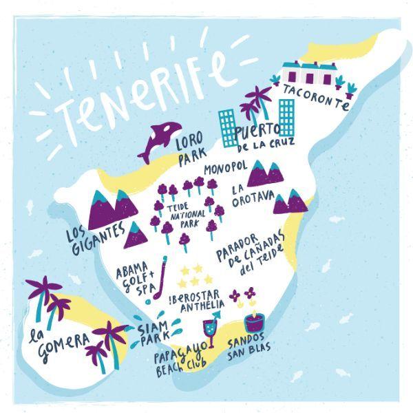 Fatti Burke - Map of Tenerife for Aer Lingus, Cara Magazine