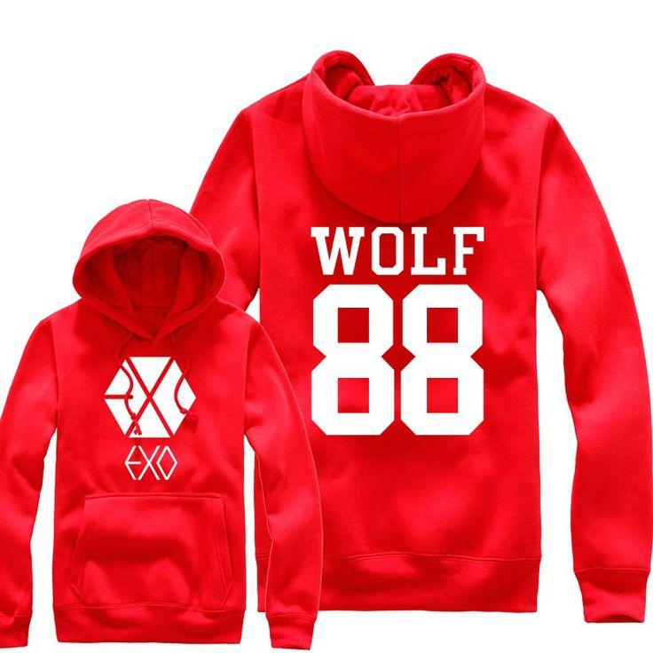 K-POP EXO wolf 88 logo fashion hoodie jacket | Kpop ...