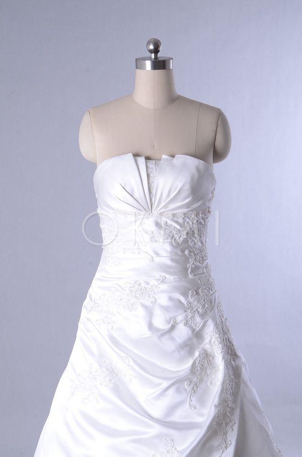 Geschulpte-edge hals Elegante Kanten Bruidsjurk met Ruches