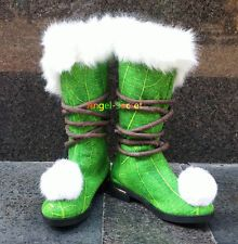 FTK10 Tinkerbell boots furry shoes for travelling costume shoes tailor made