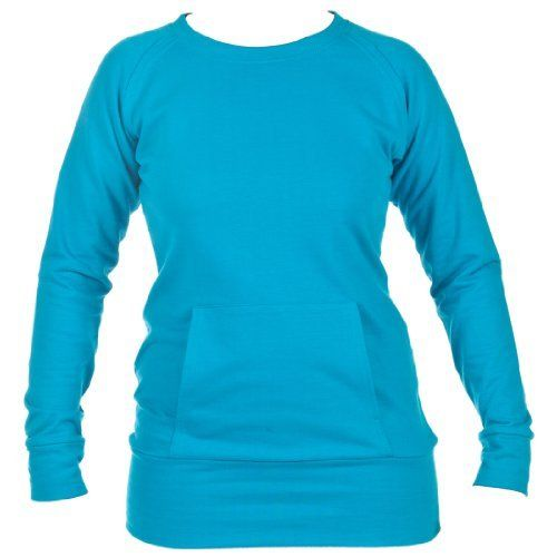 Turquoise Essential Long Sleeve First Crush Crew Neck Sweatshirt Shirt Junior Fit Touch of Europe Shirts & Tops. $29.99