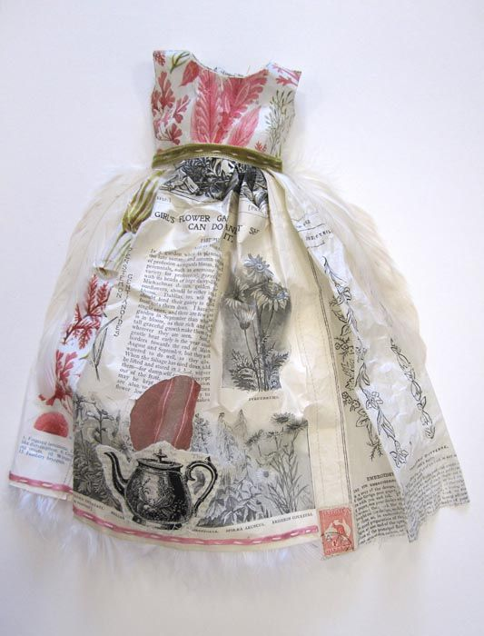 Paper dress by Leonie Oakes.