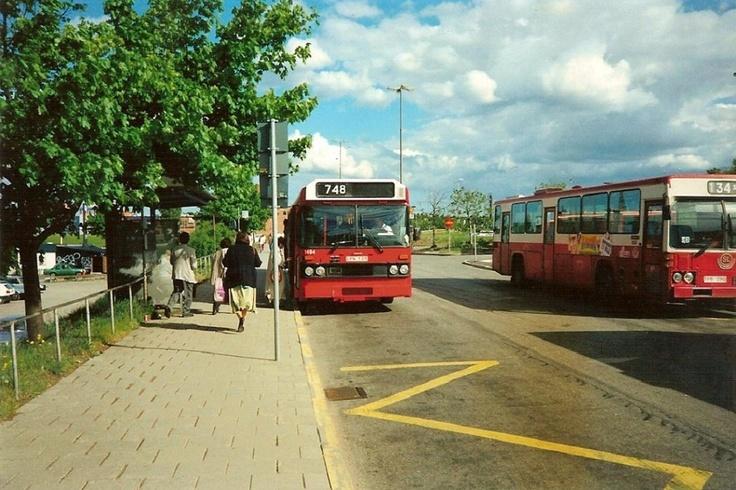 SL-bussar vid Liljeholmen