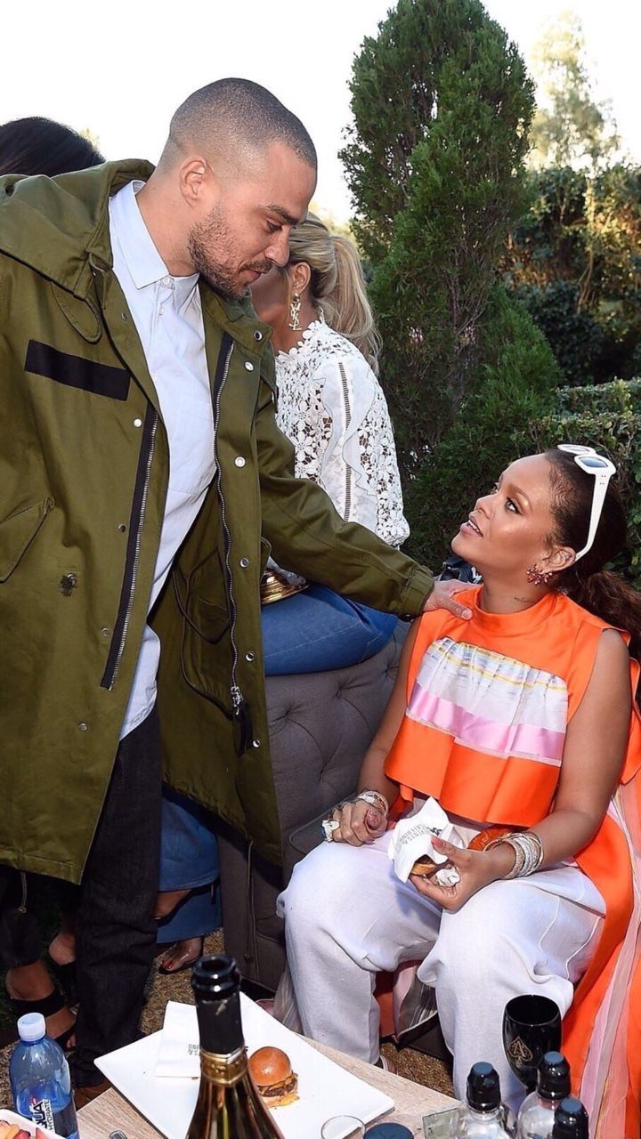 February 11: Rihanna and Jesse Williams at the Roc Nation Pre-Grammys brunch in Los Angeles.