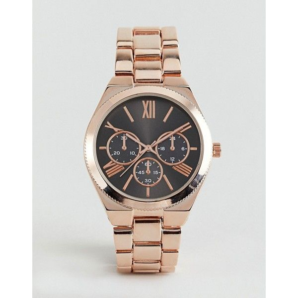 ALDO Gwosa Rose Gold Watch ($56) ❤ liked on Polyvore featuring jewelry, watches, gold, aldo jewelry, rose gold jewellery, red gold jewelry, aldo and red gold watches
