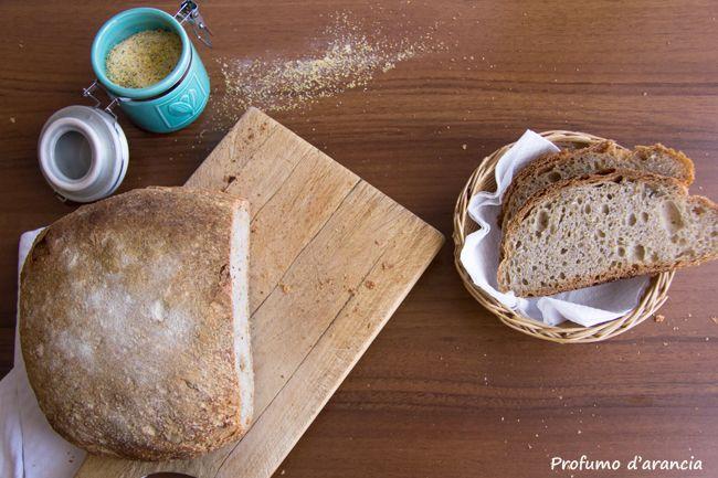 pane fatto in casa- pane con farina di mais- pane con farina di grano saraceno