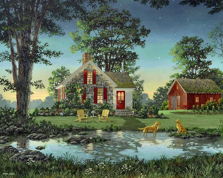 Fred swan paint by number kits paint by number cottage art