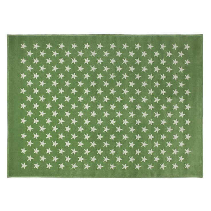 Acrylic Rug Stars Green / Alfombra acrílica Estrellitas Verde Lorena Canals