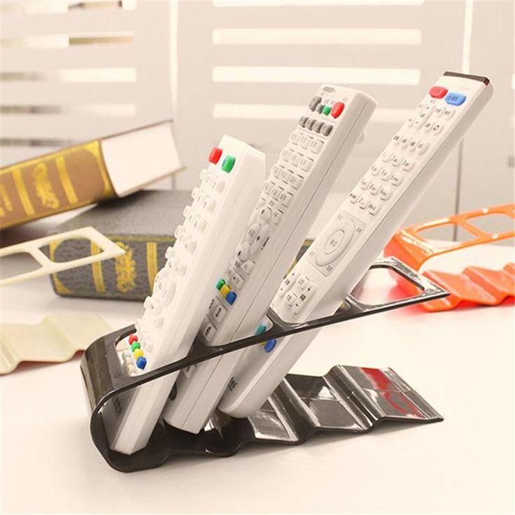 便利なプラスチックテレビdvdビデオデッキリモコンホルダースタンドテーブル収納ラックデスクトップ携帯電話オーガナイザー