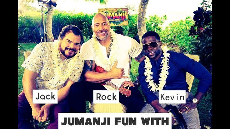 Jumanji promo tour fun with The Rock Vs Kevin Hart Vs Jack Black | They ...