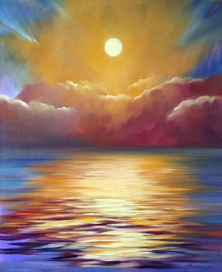 Seascape by Galina Bukova. 50x70 cm. oil on canvas. http://drawinger.com