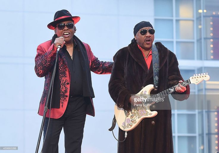 Ronald Isley and Ernie Isley of the Isley Brothers perform onstage at Macy's 67th Annual Great Tree Lighting at Macy's Lenox Square on November 27, 2014 in Atlanta, Georgia.