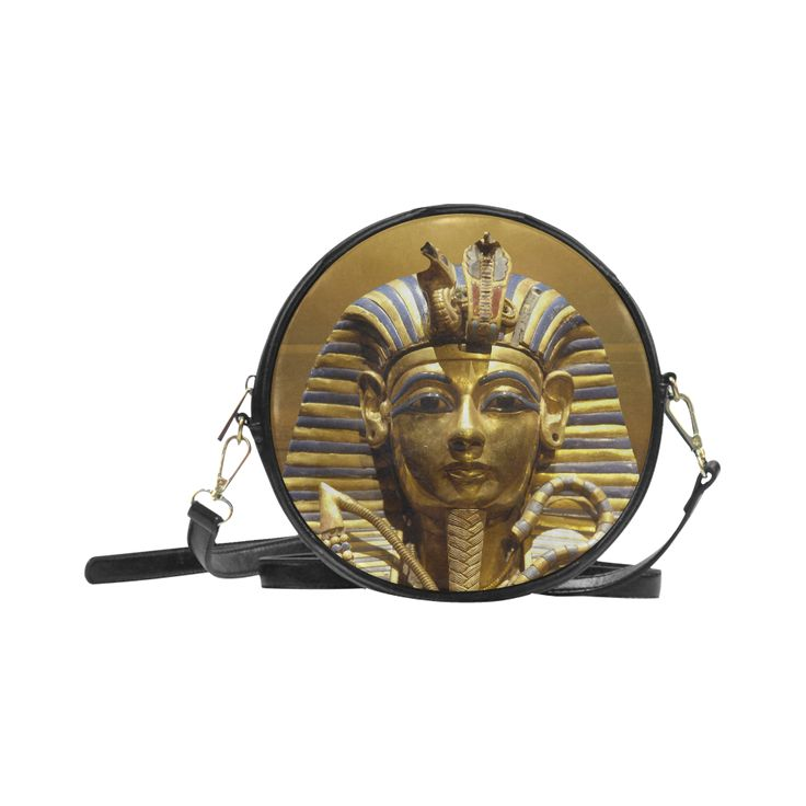 Egypt King Tut Round Messenger Bag. FREE Shipping. #artsadd #bags #egypt