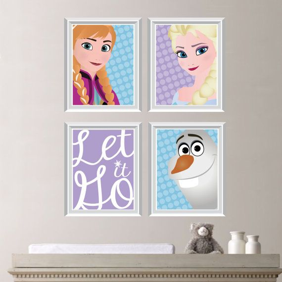 Frozen Art  Frozen Print  Frozen Bedroom  by RhondavousDesigns2, $30.00