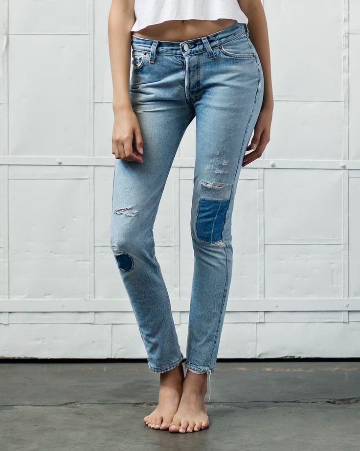 This straight skinny isn't your average skinny jean. We repurposed well-worn vintage denim to create this modern classic. From its unique wash, its non-stretch, figure flattering denim, to its elongat