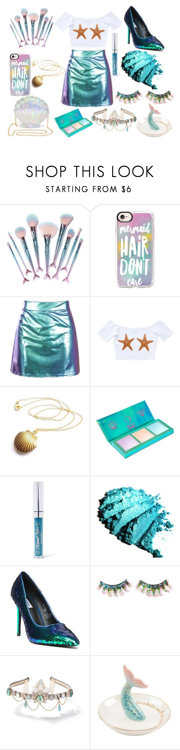 """""""Mermaid"""" by zaneparis on Polyvore featuring Featherella, Casetify, Lime Crime, Mermaid Salon, Cape Robbin, FromNicLove and Miss Selfridge"""