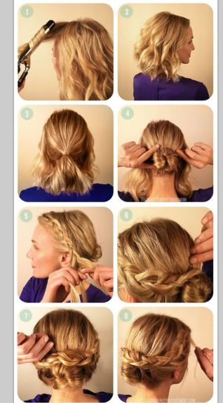 side braid bun - simple easy quick- easy office hair styles