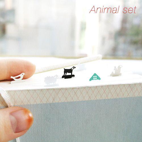 Image of Iconic Mini Bookmark SetKawaii Steel, Minis Bookmarks, Tiny Animal, Icons Minis, Animal Bookmarks, Steel Bookmarks, Bookmarks Sets, Icons Bookmarks, Marcapáginas Bookmarks