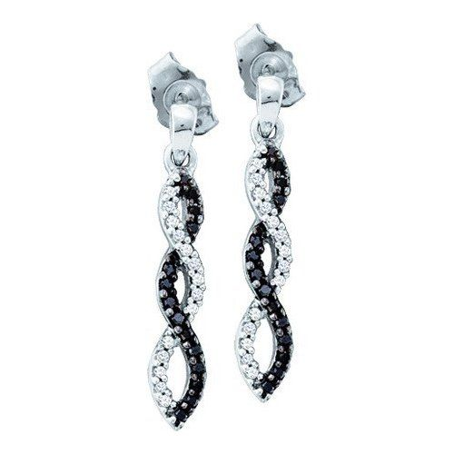 Black Diamond Earrings 0 15ct Fashion Earring 10kt White Gold List Price