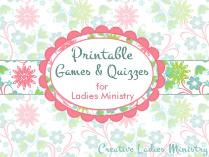 Free Printable Games and Icebreakers for Womens Ministry:  from Creative Ladies Ministry
