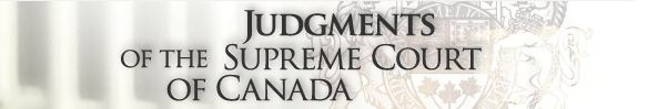 Supreme Court of Canada Judgements Logo