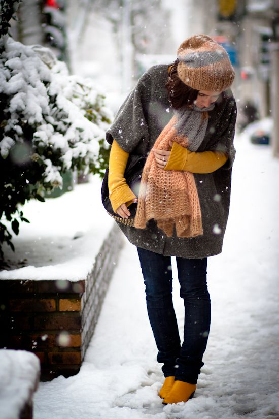 Lovely color pairings - and more bulky wintry knits