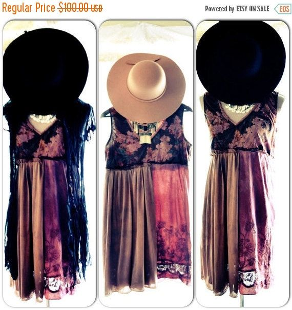 Coachella Slip dress, Boho dresses, Bohemian gypsy sundress, Hippie chic clothing, Spring Music Festival Clothing, True rebel clothing Large